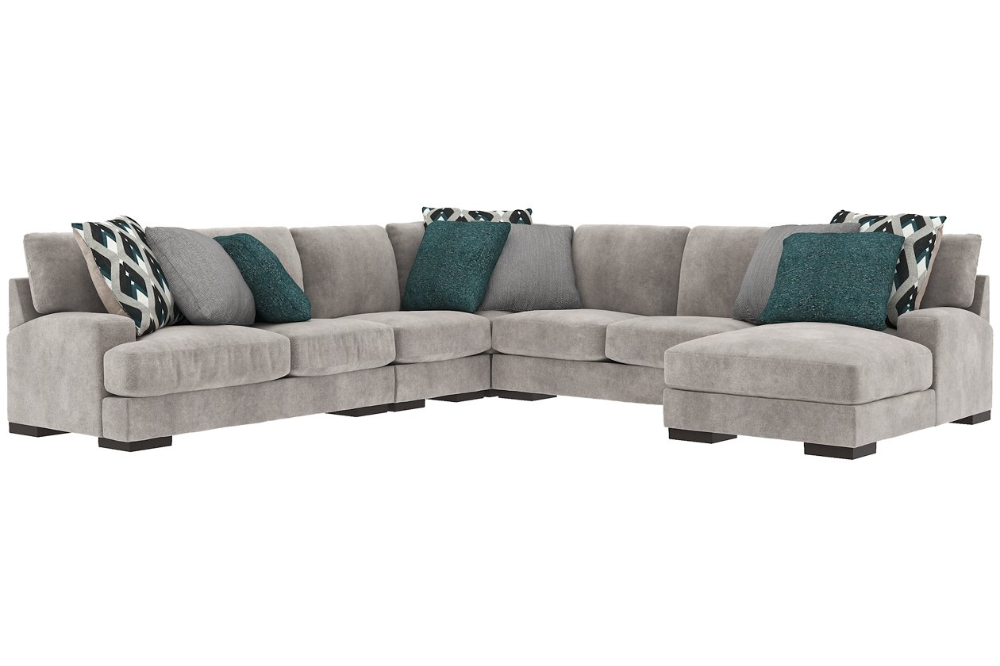 Best Bardarson 5 Piece Sectional With Chaise Sectional 400 x 300