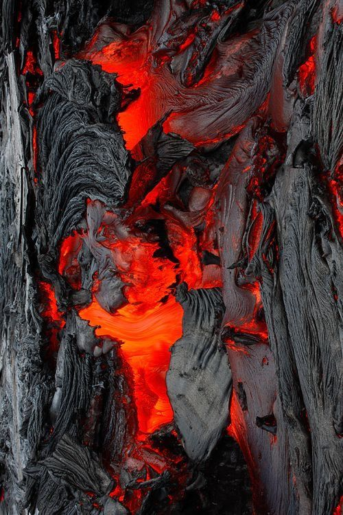 Lava I Look At This And My Mind Still Hears That Slow Motion Crackling Sound Matka Natura Wulkan Tekstura
