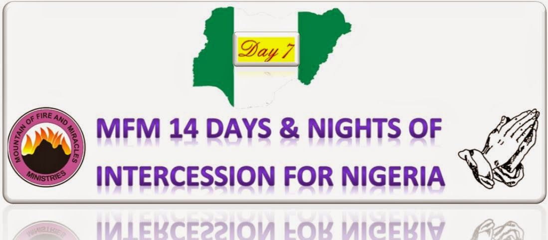Sermon Jotter: Pray For The Nation {Day 7}Click to Open!!! PRAYER FOR NIGERIA - Mfm 14 Days & Night of Intercession for Nigeria: DAY 7 http://sermonjotters.blogspot.com/2015/02/pray-for-nation-day-7.html