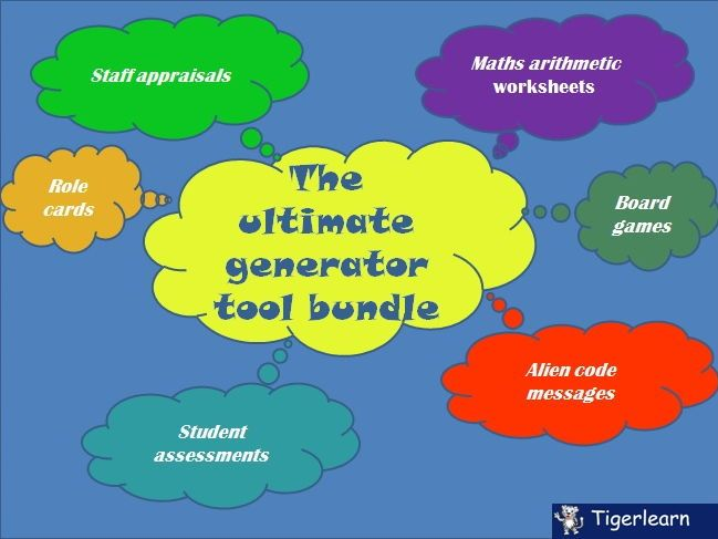 The ultimate generator tool bundle | Generators, Worksheet generator ...