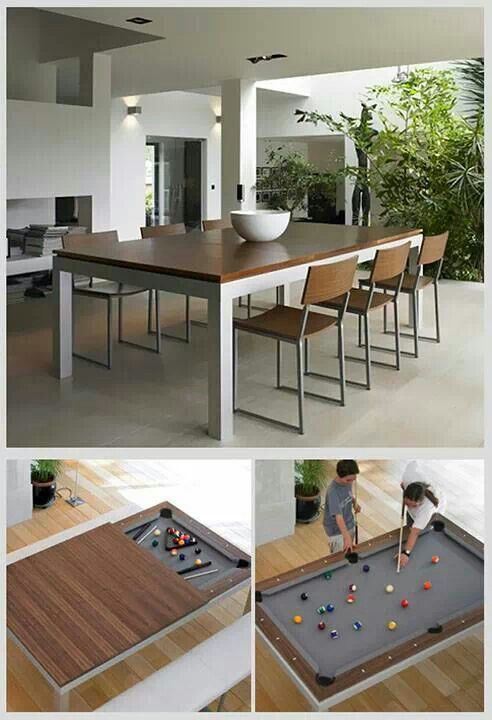Dinning AND Pool Table!    Something Like This Would Be PERFECT For The  Game Room!! Du0026D And Pool All In One Space!!