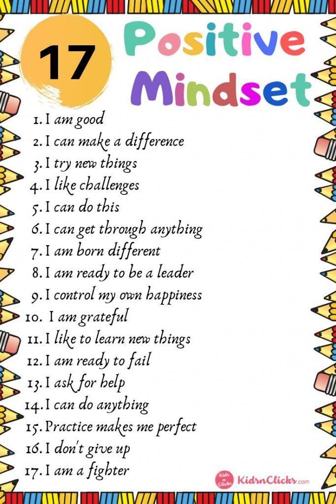101 Inspiring & Creative Positive Affirmations For Kids