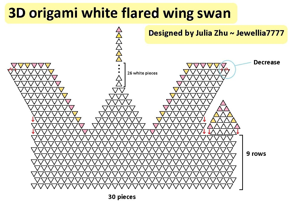 3d Origami Diamond Swan Diagram Block And Schematic Diagrams