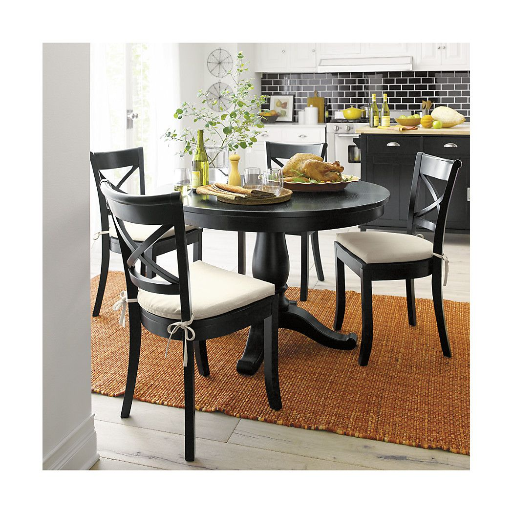 Vintner black wood dining chair and cushion home decor pinterest