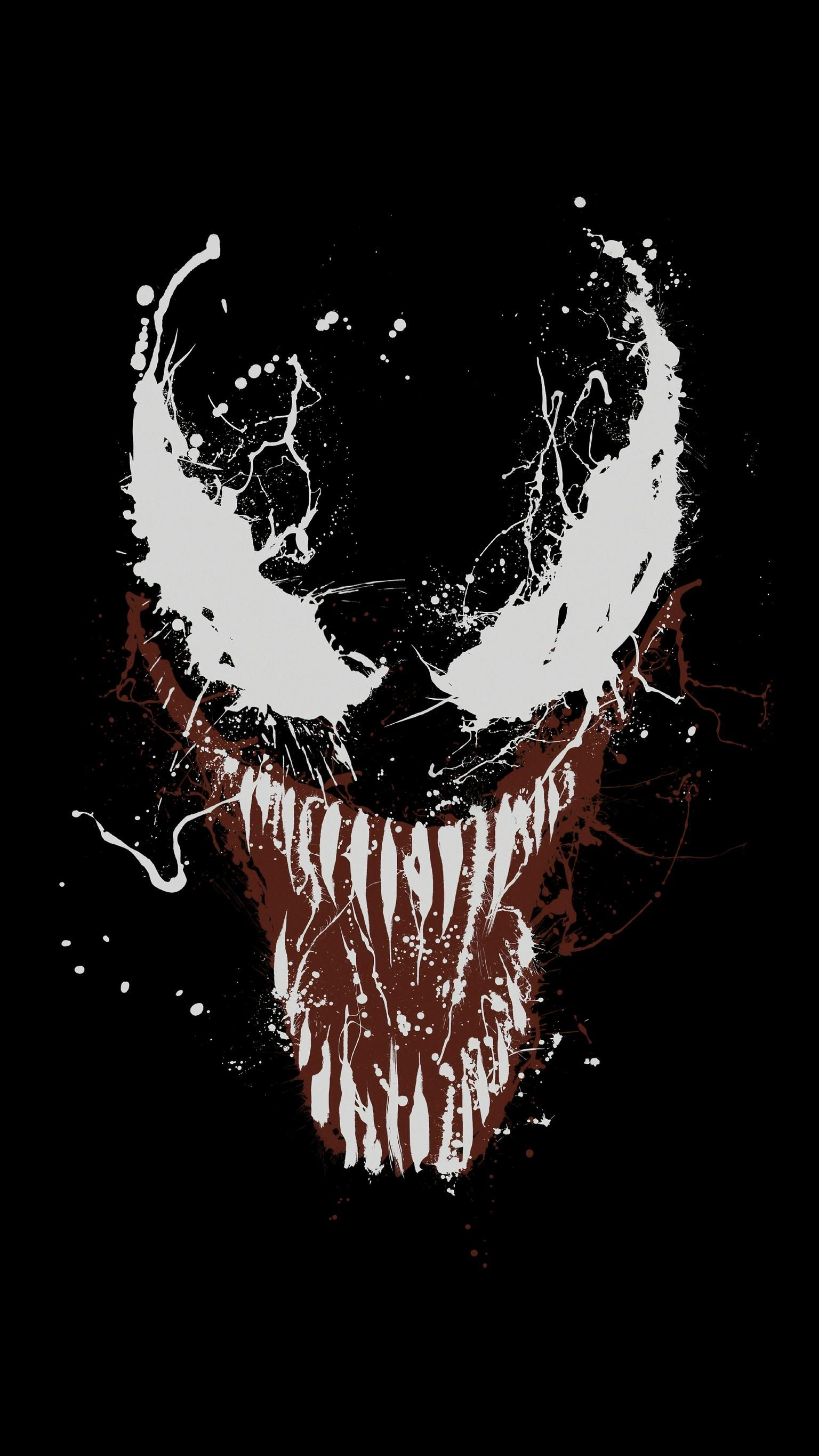 Venom (2018) Phone Wallpaper Marvel wallpaper, Venom art