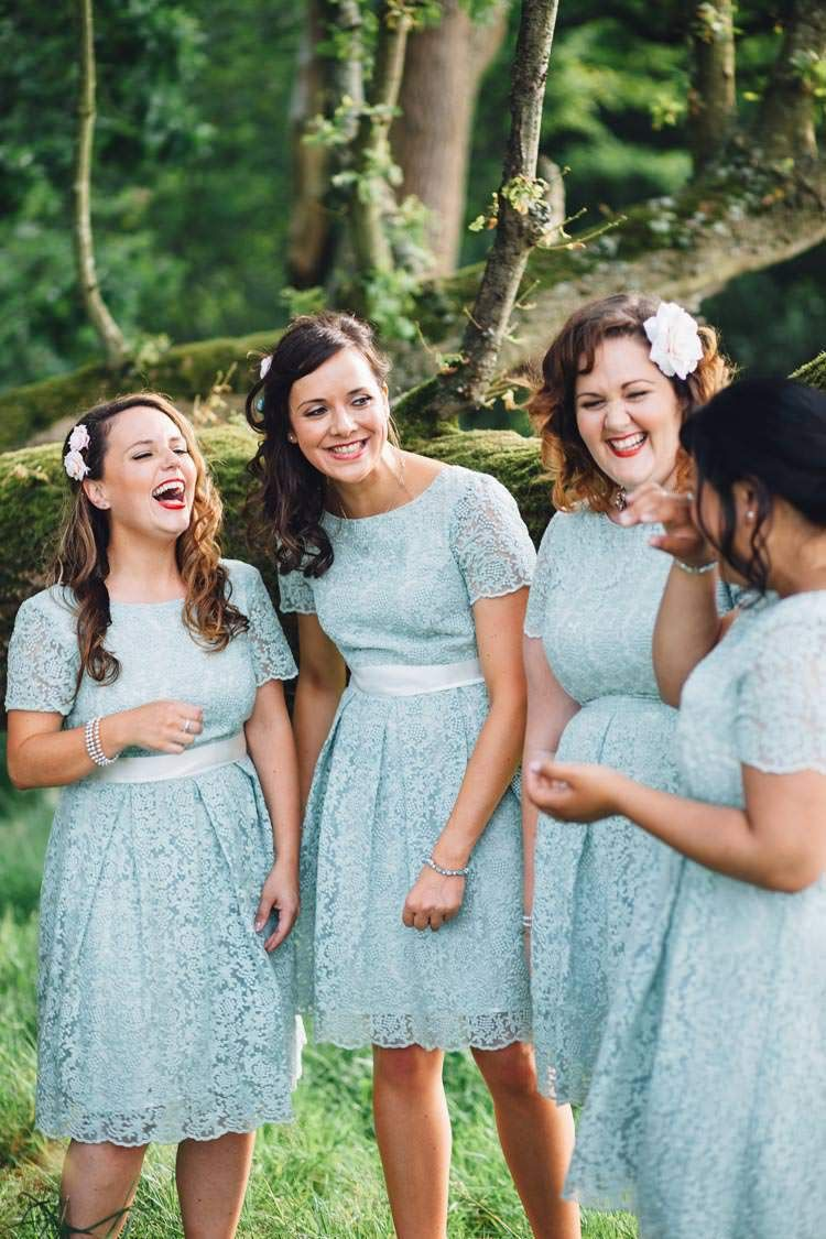 Lace Mint Green Short Bridesmaid Dresses Colourful Festival Glamping ...