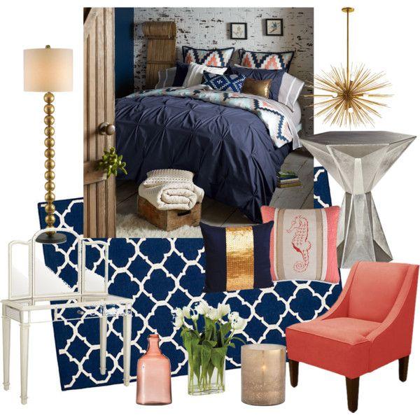 Best Coral Navy Bedroom Apartment Bedroom Decor Bedroom 400 x 300