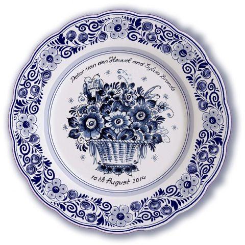 delft blue birth wedding plates delft blue plates