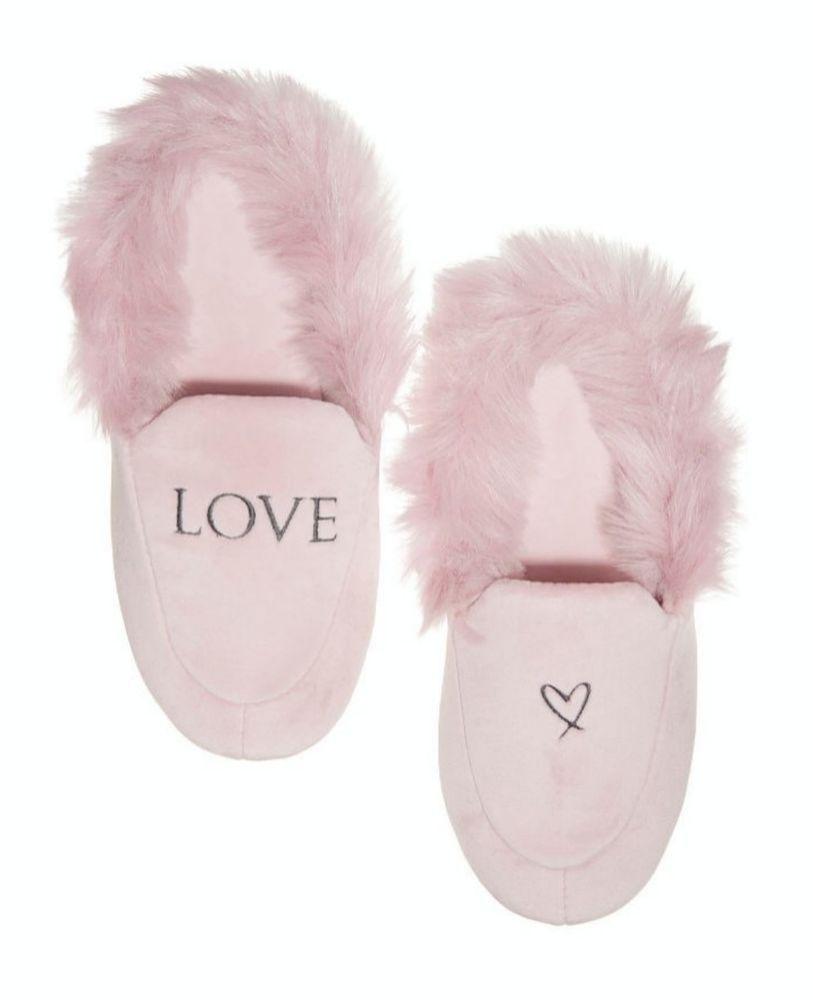 f66fb1e1f04be Victoria's Secret Love Velvet Slippers Pink Large 9-10 NWT ...