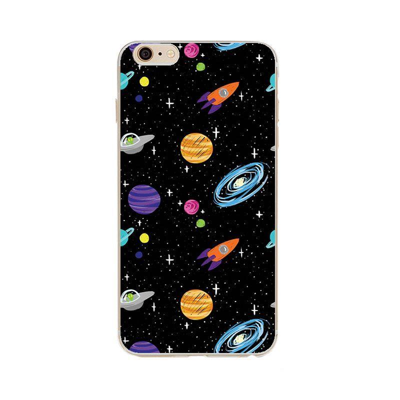 Airship Astronaut Stars Moon Night iphone case