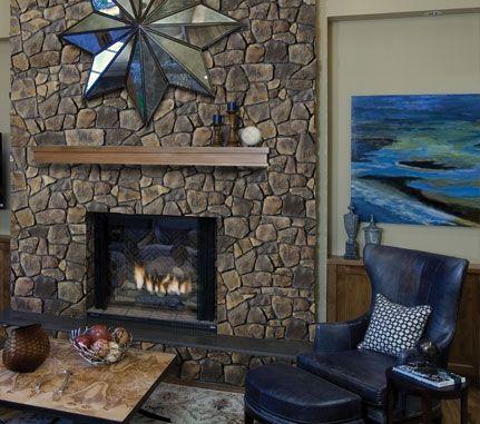 Field Stone Fireplace fireplace: wolf creek dressed fieldstone - cultured stone