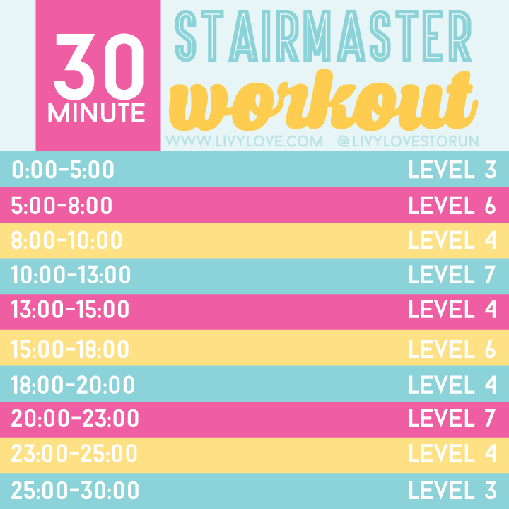 30 Minute Stair Master Workout Livy Love 2014 Fall Road Trip