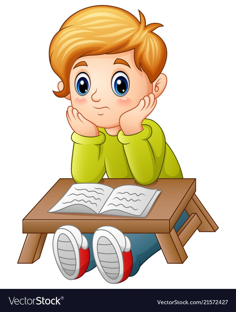 Illustration Of Little Boy Confused Read A Book Download A Free Preview Or High Quality Ado Animation Schools Teacher Cartoon Logo Design Inspiration Graphics