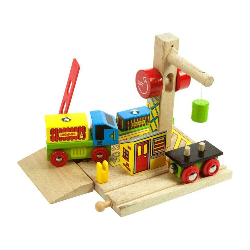 Bigjigs Toys Container Shipping Yard In 2020 Toy Containers Wooden Train Wooden Containers
