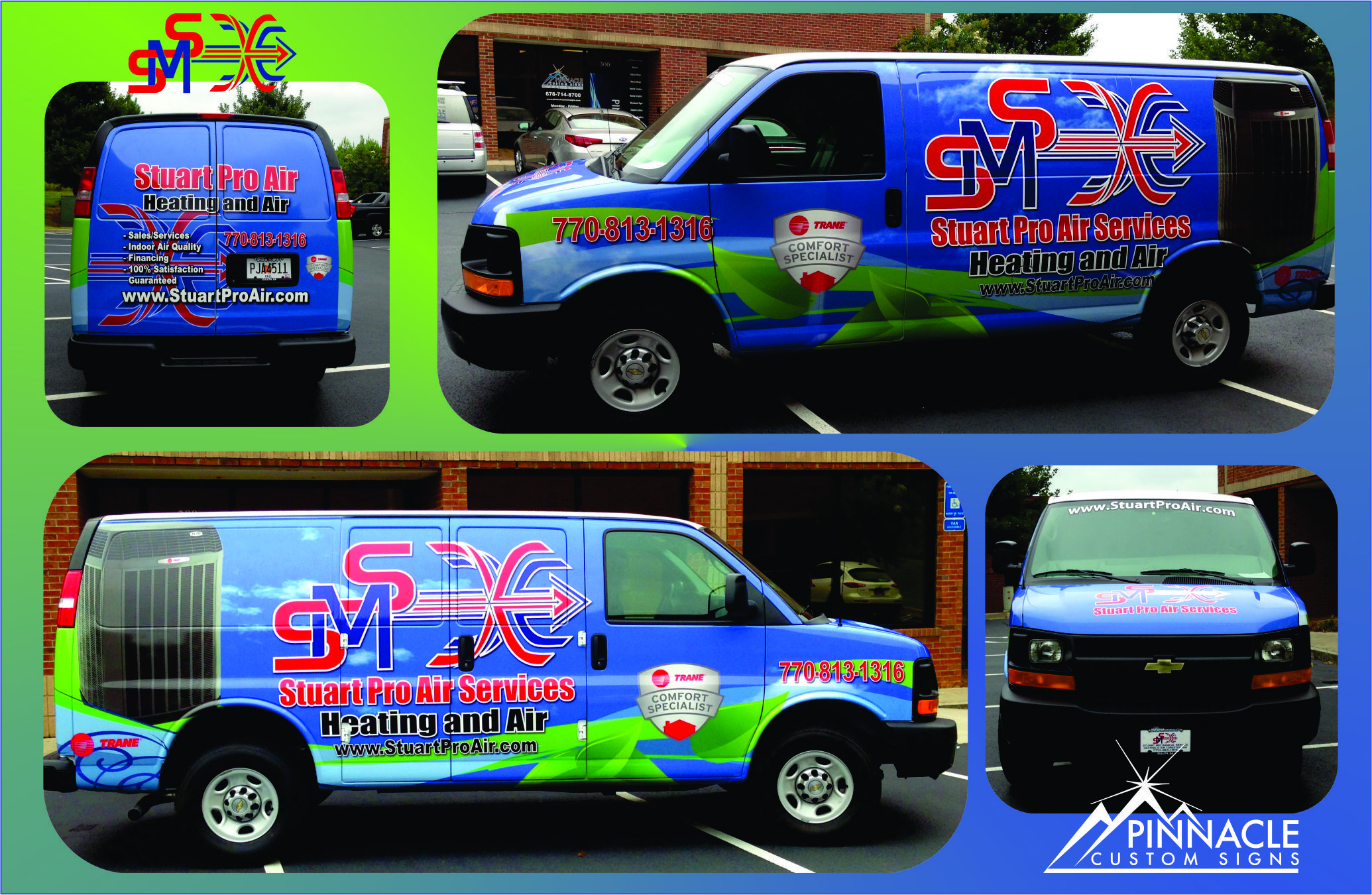 Van Wrap For Stuart Pro Air In Buford Ga Flashy Graphics Get These Vans Noticed On The Busy Atlanta Streets Sign Design Car Lettering Van Wrap