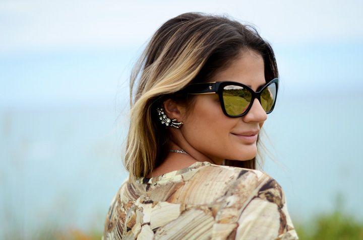 Thassia Naves arrasa com seu Chanel Black Gold Cat Eye... #oculos #de #sol #luxo #dourado #sunglasses #eyewear #oticas #wanny
