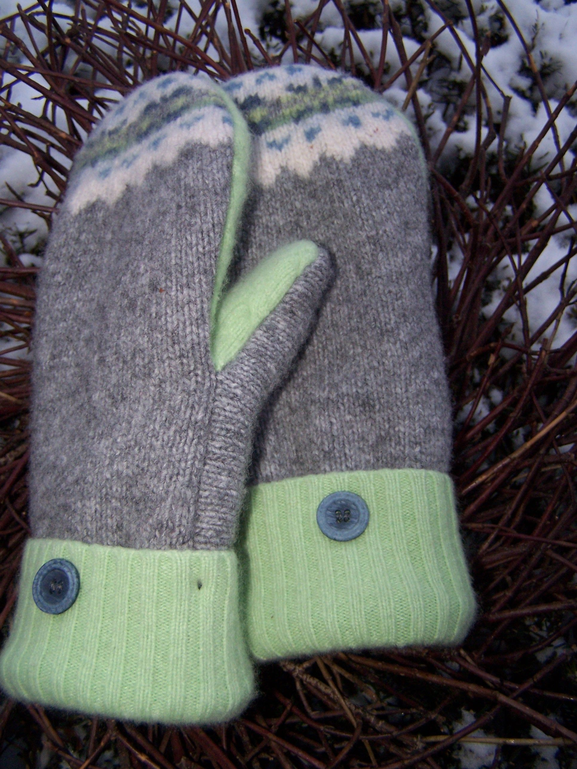 Pattern For Mittens Made From Old Sweaters