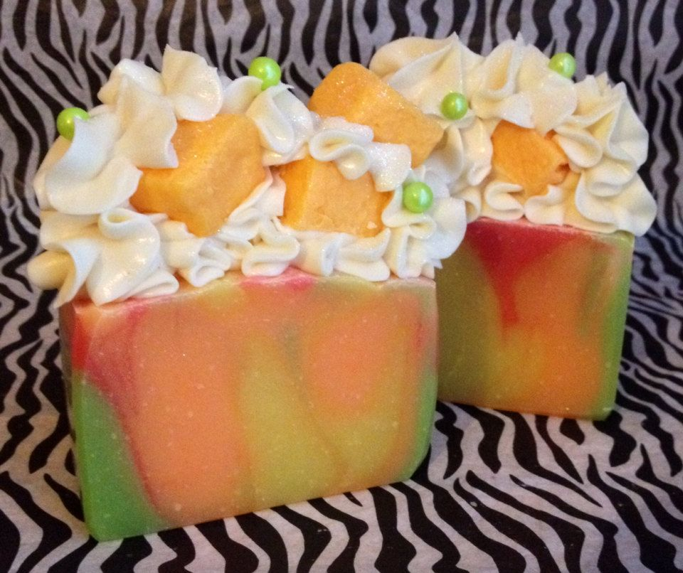 Luxurious Cold Process Artisan Soap Cilantro Mango by MilancoSoaps, $6.00