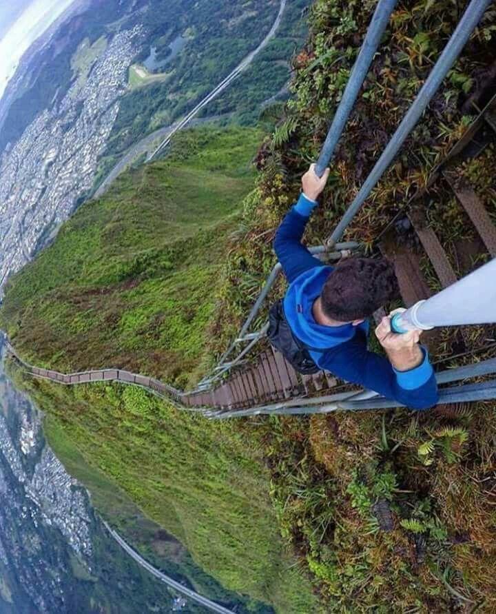 Escalera al cielo Hawaii Lugares increibles, Lugares