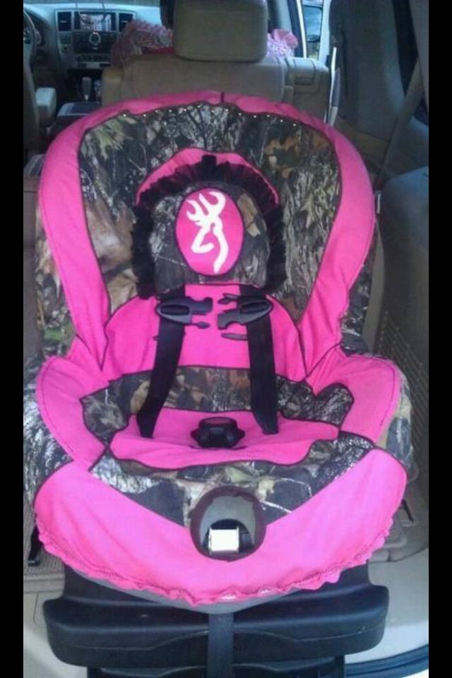 Browning Pink Camo Carseat