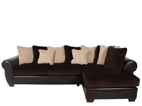 ASH 50700/SECT   Ashley Viva Chocolate Sectional | Mathis Brothers Furniture