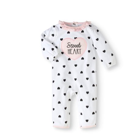c2e598cc0c2a Rene Rofe Newborn Baby Girl Footless Coverall Romper