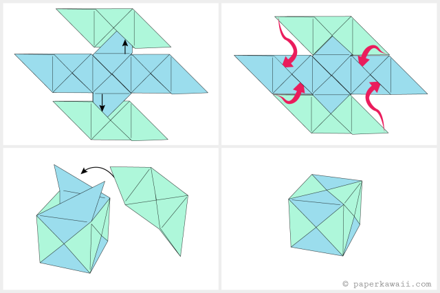 How To Make A Modular Origami Cube Box Origami Pinterest