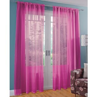 Buy Colour Match Voile Curtain Panels 152x229cm Funky Fuchsia At