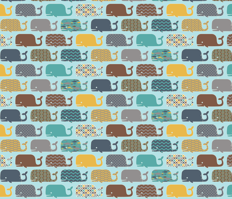 WHALES! fabric by jumping_birds on Spoonflower - custom fabric