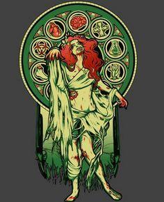 Art Deco Zombie Ivy