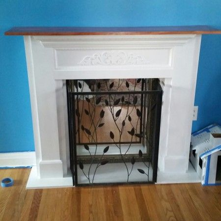 Macs mantle do it yourself home projects from ana white macs mantle do it yourself home projects from ana white faux fireplacefireplace screensdesk solutioingenieria Image collections