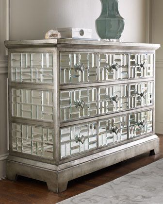 John Richard Collection Gatsby Mirrored Chest Traditional Dressers Chests And Bedroom Armoires
