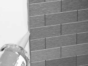 Aspect Peel Stick Glass Matted Tile Installation Aspect