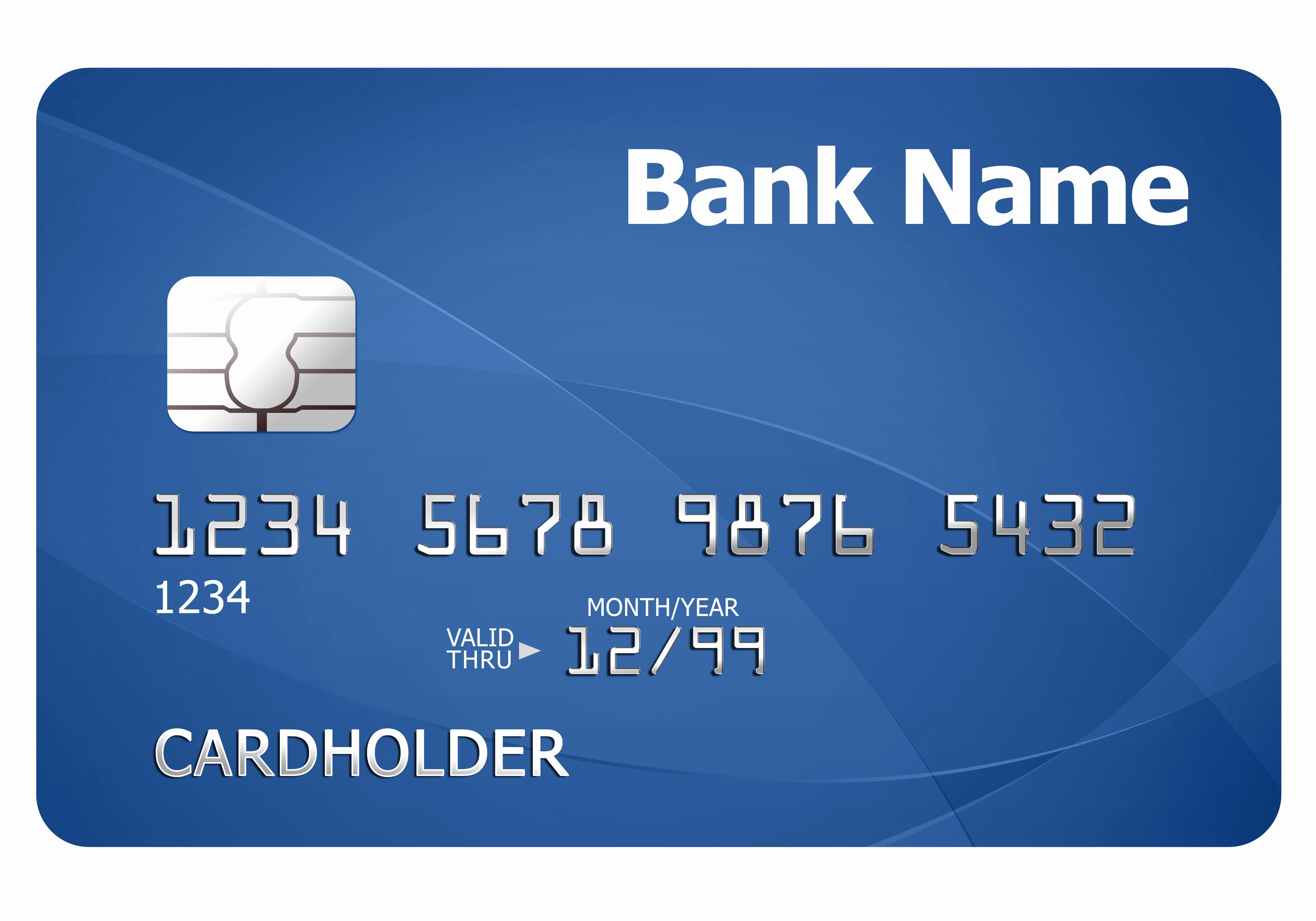 Blank Credit Card Template In 2020 Debit Card Design Virtual Credit Card Card Template