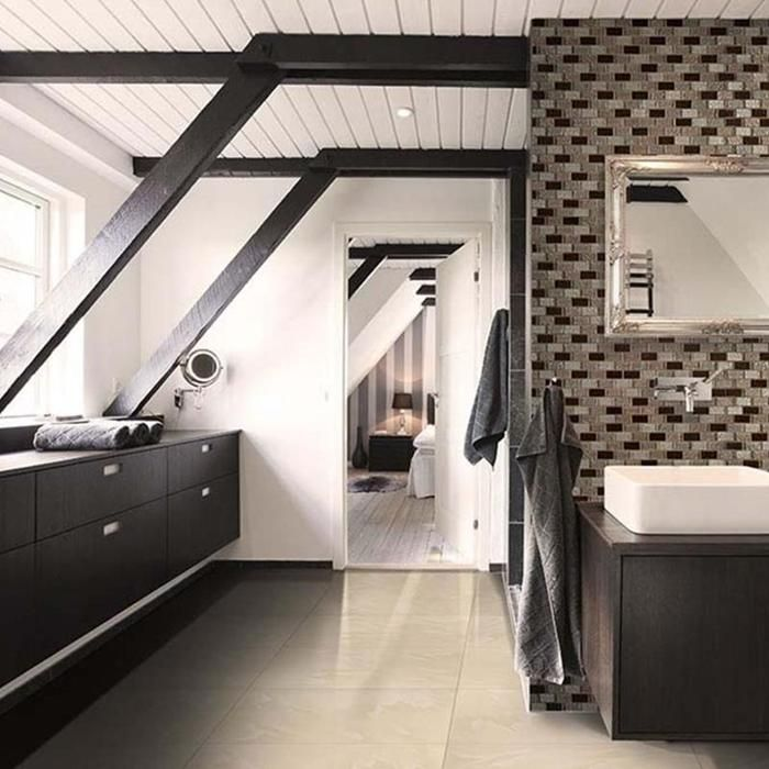 "paradiso cream 20"" x 20"" porcelain tile  bathroom trends"