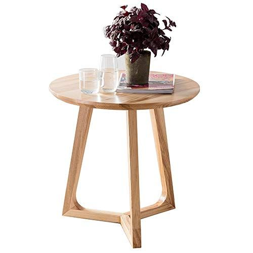 Feifei Solid Wood Small Coffee Table Simple Round Mini Coffee
