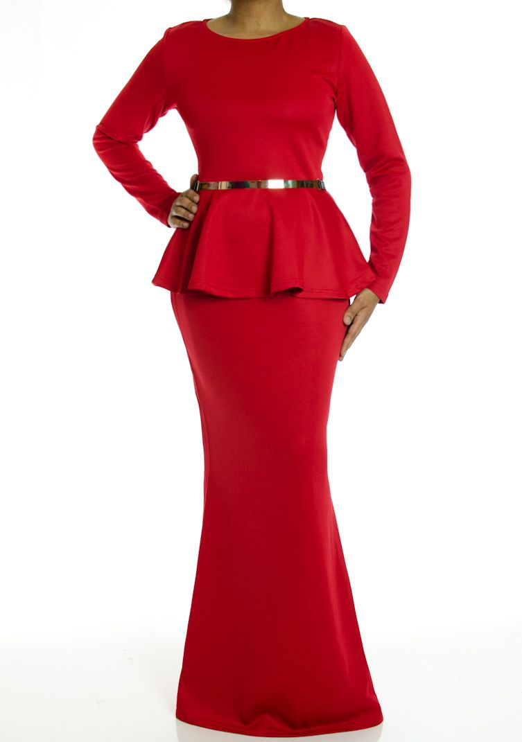 Long sleeve peplum maxi dress iuve been looking for a peplum dress