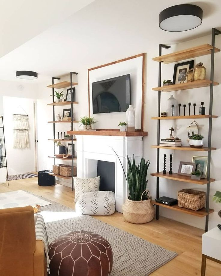 Book Shelves Diy Filling A Large Blank Living Room Wall Simply See More At Https Mis Room Furniture Design Living Room Decor Modern Farm House Living Room