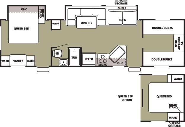 Grey Wolf Travel Trailer By Forest River Travel Trailer Floor Plans Bunkhouse Travel Trailer Rv Floor Plans