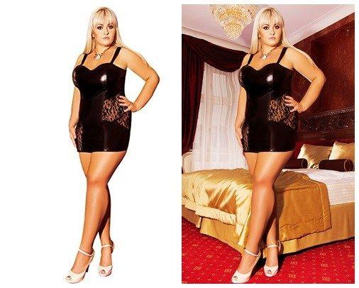 online retailer f78be 82a12 Schwarzes Nachtkleid S/3014 Oksana von Andalea Dessous ...