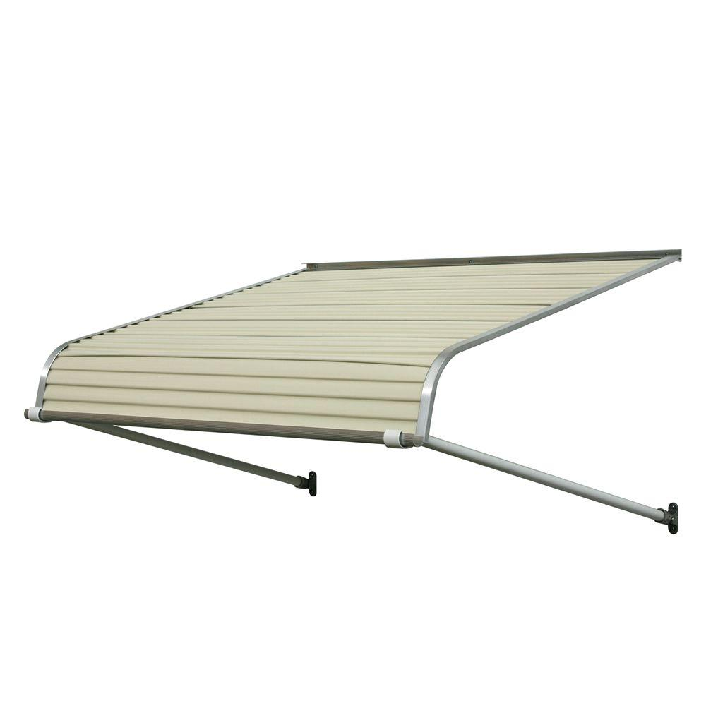 Nuimage Awnings 8 Ft 1100 Series Door Canopy Aluminum Awning 16 In H X 42 In D In Almond Brown Tan