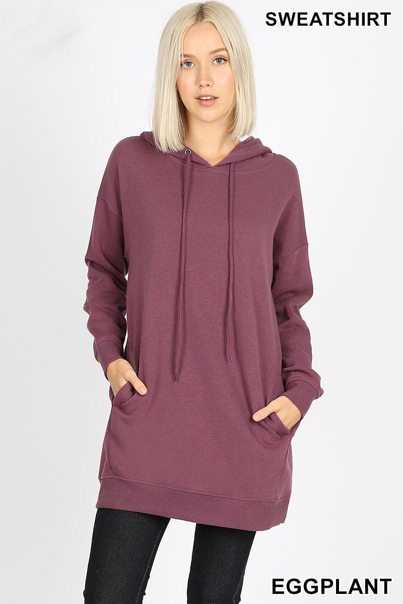 Oversized Hoodie Tunic Length Sweatshirts Zenana Outfitters Tunic Hoodie Oversize Hoodie Hoodies [ 1199 x 800 Pixel ]
