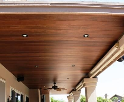 Wood Patio Ceiling   Love This!