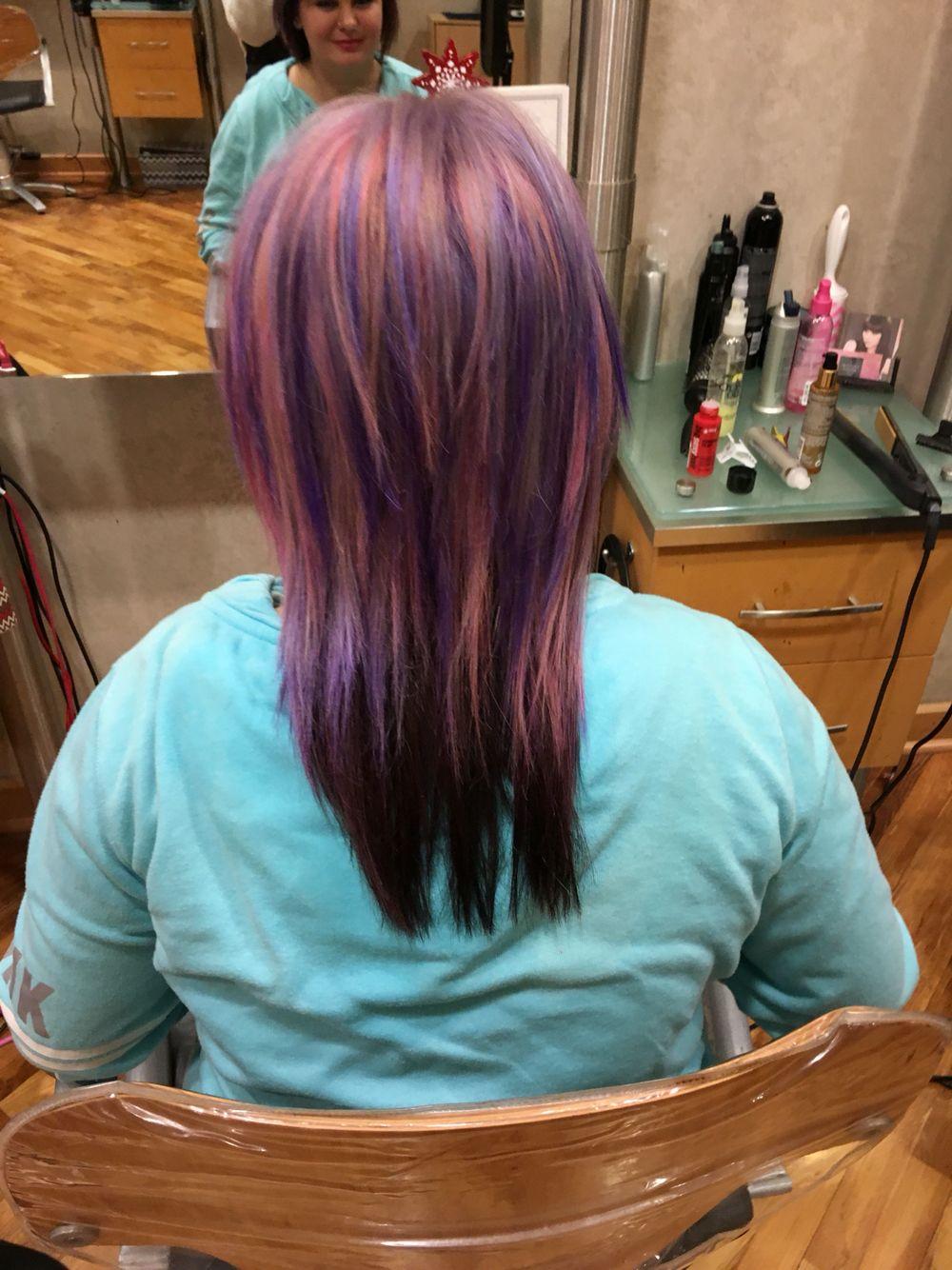 Pastel Colors With A Dark Rich Brown Underneath Mia Maxx Hair