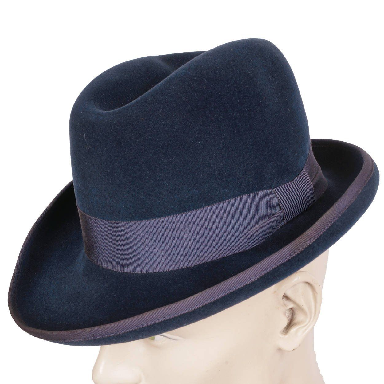 a1ee9ec8 Vintage Pierre Cardin Mens Fedora Hat by Flechet 1960s Blue Fur Felt ...