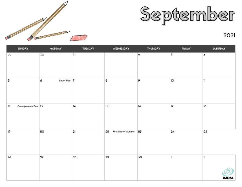 2021 Printable Calendars for Kids - iMom | Kids calendar ...
