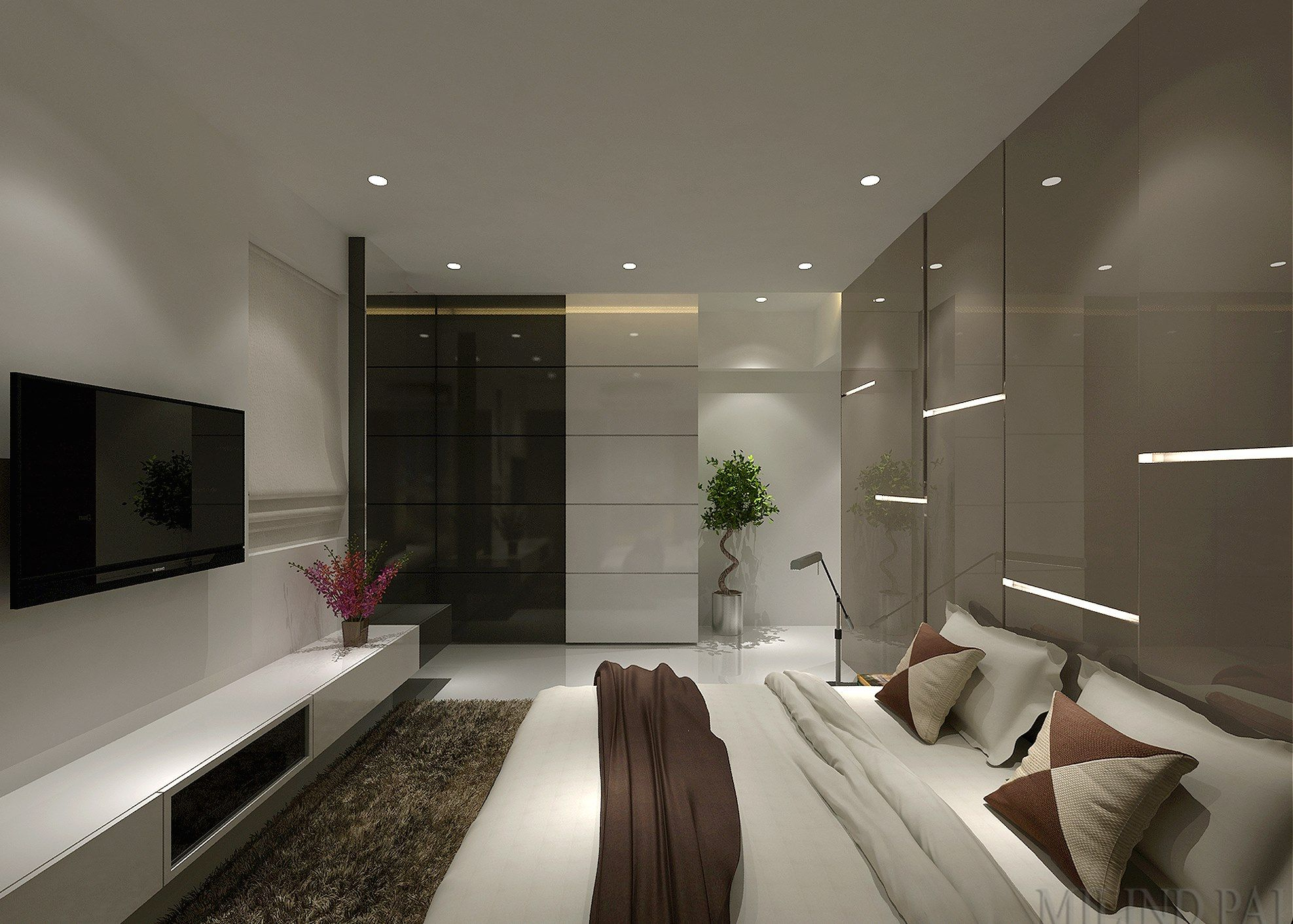 Bedroom Design for a young IT professional couple. See ...