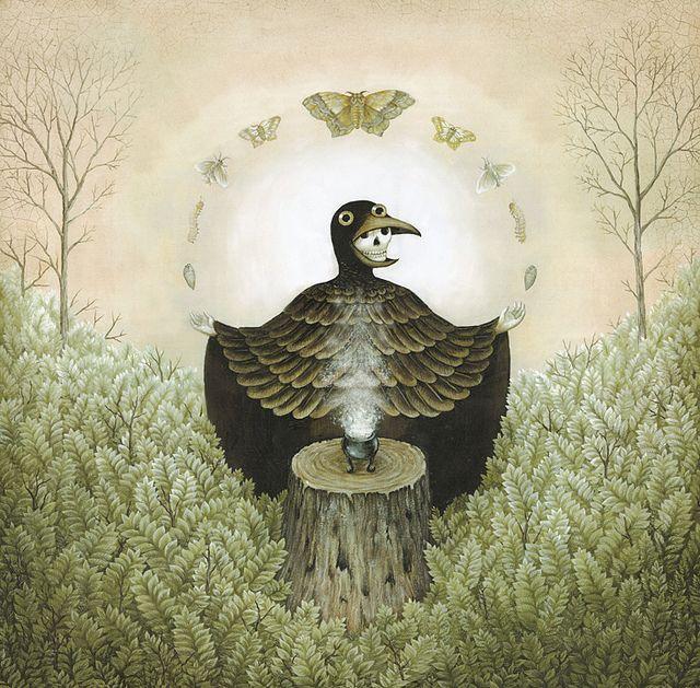 "Bird-Grim-Reaper? Art by Kathleen Lolley ""The Magician"""