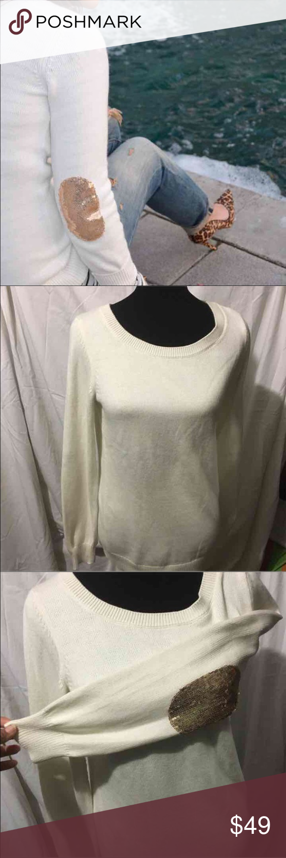 """❗️final price❗️Banana republic sweater Size:m... Regular price 89.50... New with tags ... 70% cotton, 20%nylon, 10% angora rabbit hair exclusively for decoration .. ‼️I ignore """"what's your lowest?"""" And offers that are more than 20% off ‼️ Banana Republic Sweaters Crew & Scoop Necks"""
