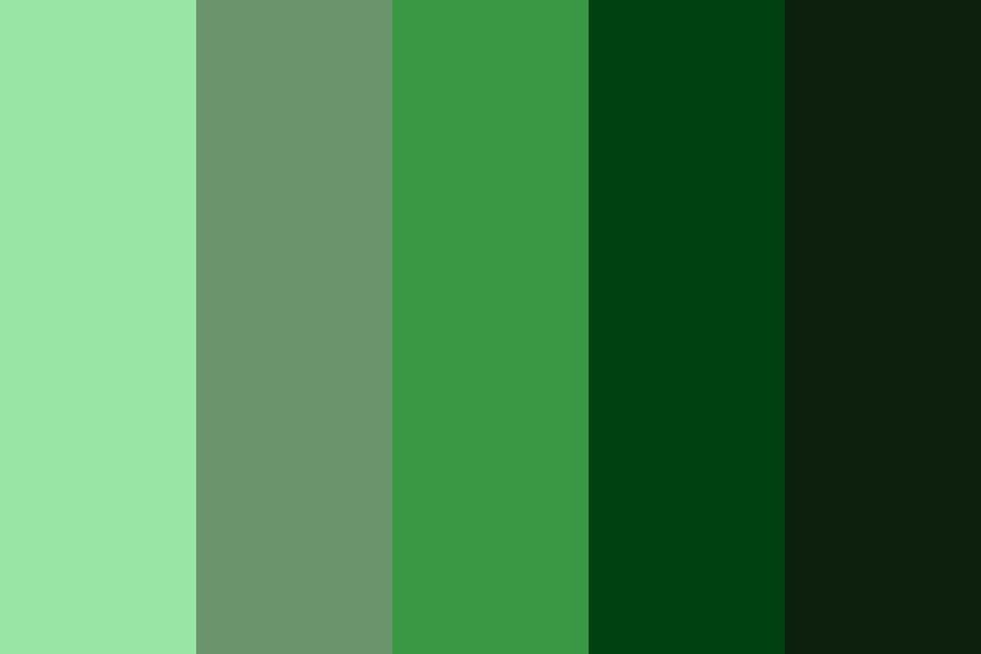 Vintage Greens Color Palette In 2020 Green Colour Palette Green Colors Vintage Green